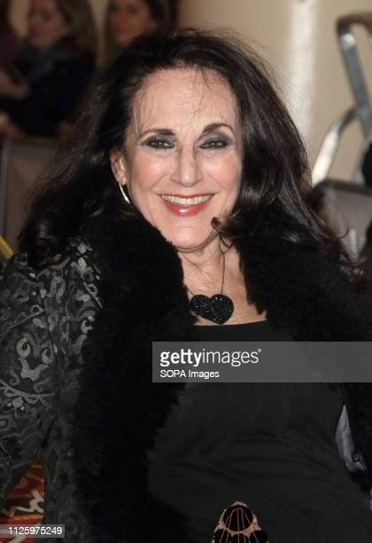 Lesley Joseph seen during the Only Fools and Horses Press night at the Theatre Royal Haymarket in London