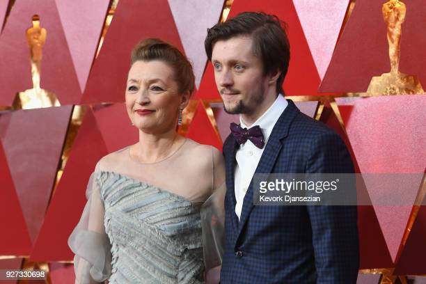 Lesley Manville and Alfie Oldman attend the 90th Annual Academy Awards at Hollywood Highland Center on March 4 2018 in Hollywood California