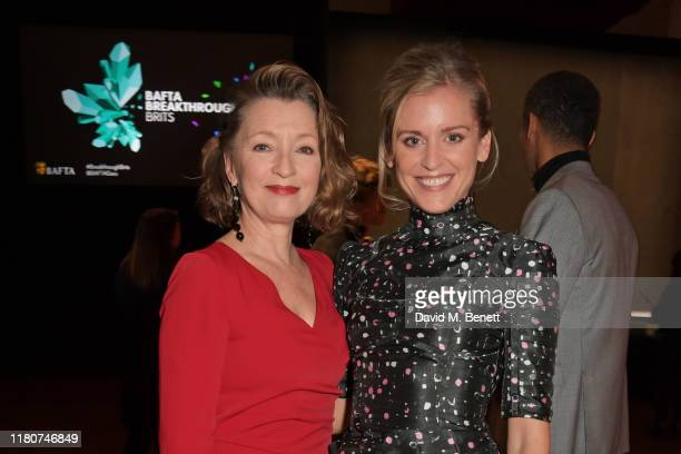 Lesley Manville and Denise Gough attend the BAFTA Breakthrough Brits celebration event in partnership with Netflix at Banqueting House on November 7...