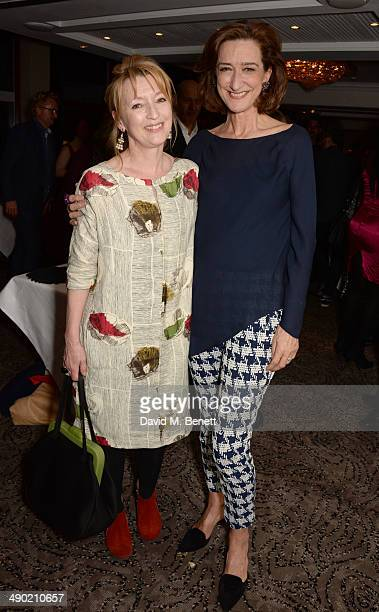 Lesley Manville and Haydn Gwynne attend an after party following the press night performance of 'The Pajama Game' at The Grange Hotel on May 13 2014...