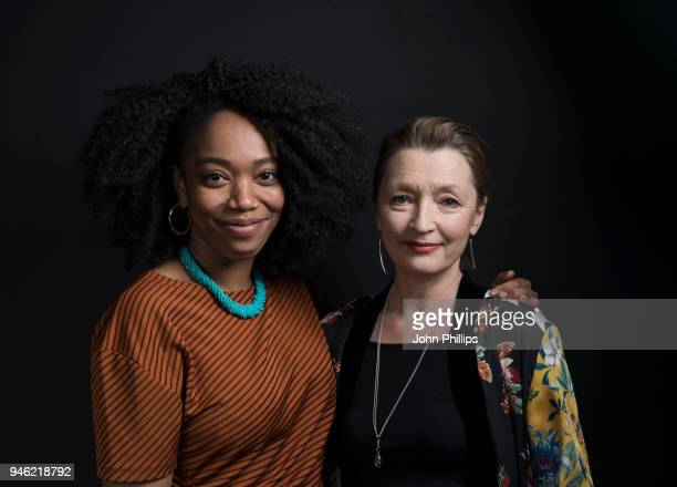 Lesley Manville and Naomi Ackie poses during the Working Class Heroes event a series of discussions and screenings looking at what it means to be...