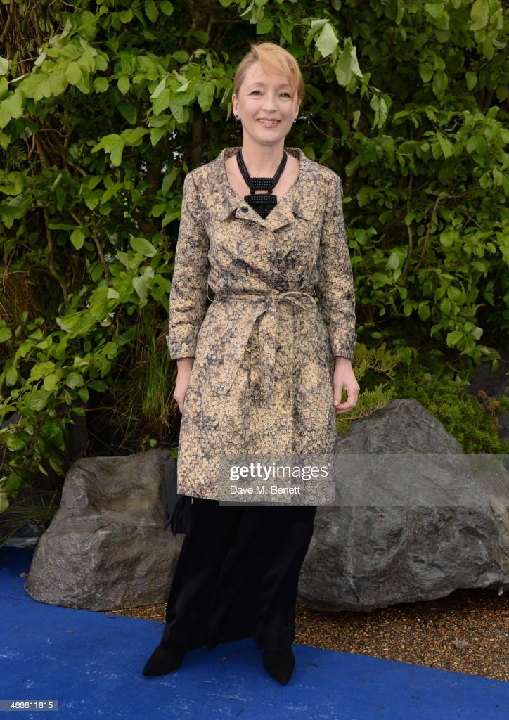 Lesley Manville arrives at a private reception as costumes and props from Disney's 'Maleficent' are exhibited in support of Great Ormond Street Hospital at Kensington Palace on May 8, 2014 in London, England.