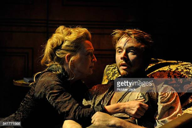 Lesley Manville as Helene Alving and Jack Lowden as Oswald Alving in Henrik Ibsen's Ghosts adapted and directed by Richard Eyre at the Almeida...