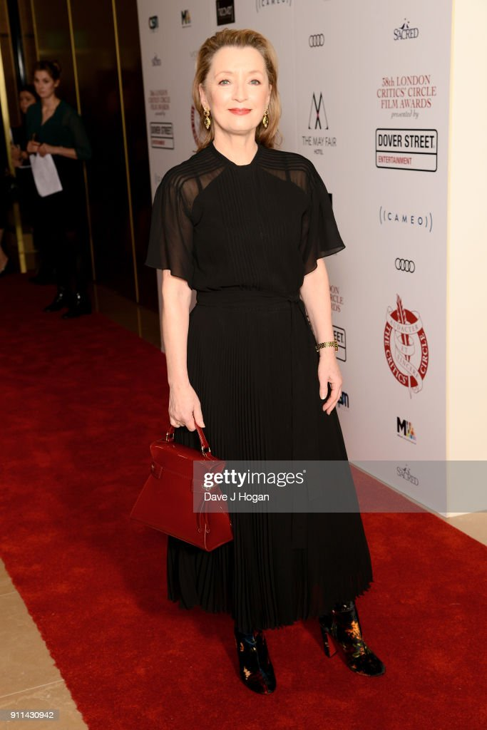 Lesley Manville attends London Film Critics' Circle Awards 2018 at The Mayfair Hotel on January 28, 2018 in London, England.