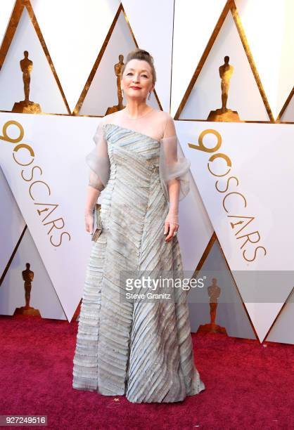 Lesley Manville attends the 90th Annual Academy Awards at Hollywood Highland Center on March 4 2018 in Hollywood California