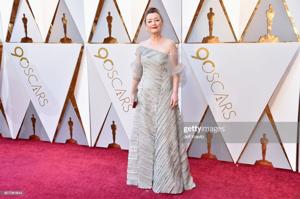 Lesley Manville attends the 90th Annual Academy Awards at Hollywood & Highland Center on March 4, 2018 in Hollywood, California.