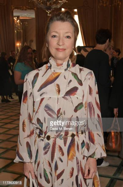 Lesley Manville attends The Academy Women's Initiative luncheon presented by Swarovski at Claridge's Hotel on October 4 2019 in London England
