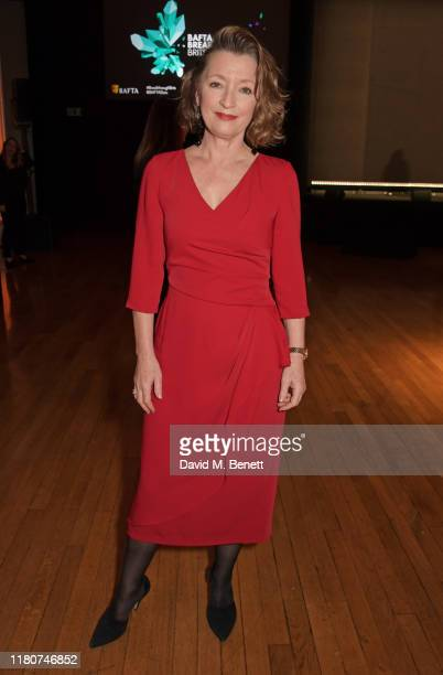 Lesley Manville attends the BAFTA Breakthrough Brits celebration event in partnership with Netflix at Banqueting House on November 7 2019 in London...