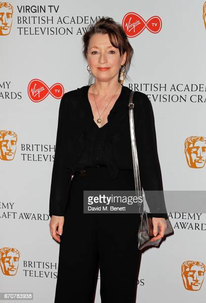 Lesley Manville attends the British Academy Television and Craft Awards nominations party at Mondrian London on April 20 2017 in London England