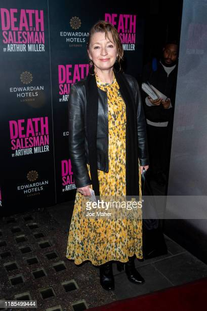 Lesley Manville attends the Death of a Salesman press night at Piccadilly Theatre on November 04 2019 in London England