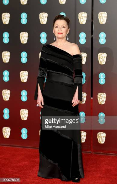 Lesley Manville attends the EE British Academy Film Awards held at Royal Albert Hall on February 18 2018 in London England