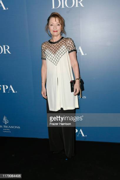 Lesley Manville attends the HFPA/THR TIFF PARTY during the 2019 Toronto International Film Festival at Four Seasons Hotel on September 07 2019 in...