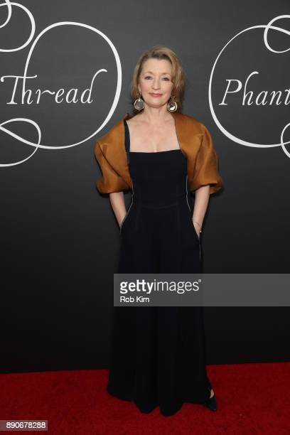 Lesley Manville attends the New York Premiere of 'Phantom Thread' at Harold Pratt House on December 11 2017 in New York City