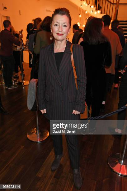 Lesley Manville attends the press night performance of Mood Music at The Old Vic Theatre on May 2 2018 in London England