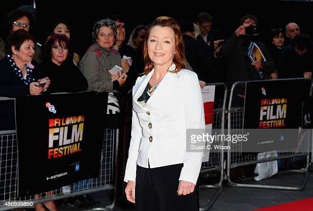 Lesley Manville attends the red carpet of 'Mr Turner' during the 58th BFI London Film Festival at Odeon West End on October 10 2014 in London England