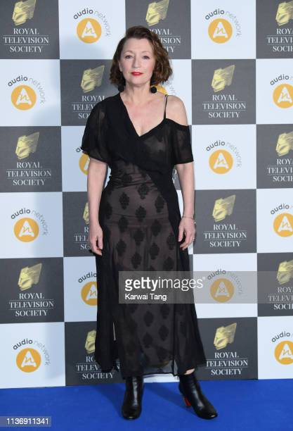 Lesley Manville attends the Royal Television Society Programme Awards at Grosvenor House on March 19 2019 in London England