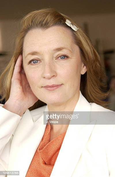 Lesley Manville during Cannes 2002 All or Nothing Portraits at Carlton Beach in Cannes France