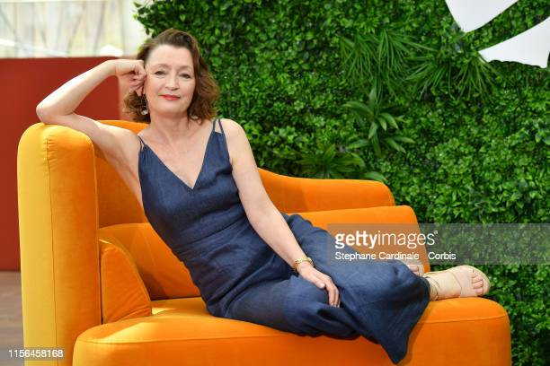 """Lesley Manville from the serie """"World on Fire"""" attends the 59th Monte Carlo TV Festival : Day Four on June 17, 2019 in Monte-Carlo, Monaco."""