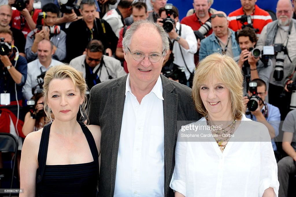 Lesley Manville, Jim Broadbent and Ruth Sheen at the Photocall for 'Another year Premiere' during the 63rd Cannes International Film Festival.