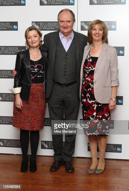 Lesley Manville Jim Broadbent and Ruth Sheen promote the film 'Another Year ' at the 54th BFI London Film Festival at Vue West End on October 18 2010...