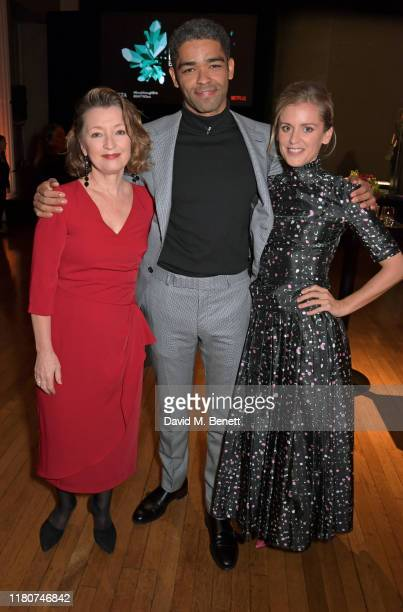 Lesley Manville Kingsley BenAdir and Denise Gough attend the BAFTA Breakthrough Brits celebration event in partnership with Netflix at Banqueting...