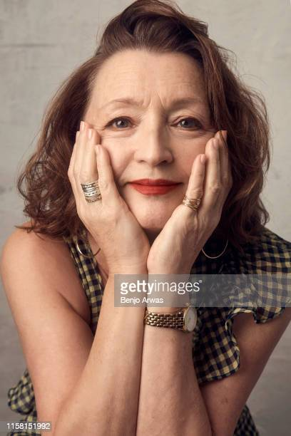 Lesley Manville of BritBox's 'Mum' poses for a portrait during the 2019 Summer TCA Portrait Studio at The Beverly Hilton Hotel on July 25 2019 in...