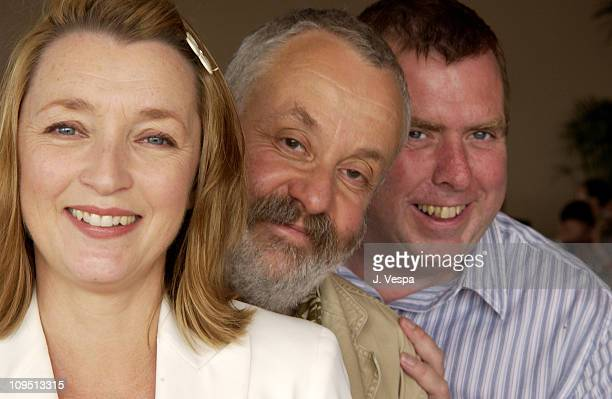 Lesley Manville writer/director Mike Leigh Timothy Spall