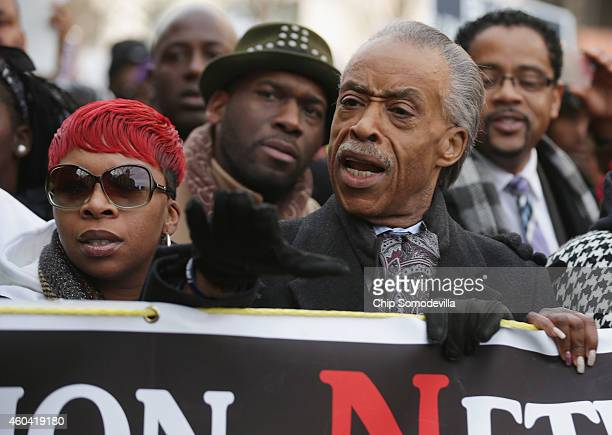 Lesley McSpadden mother of police shooting victim Michael Brown and Rev Al Sharpton lead the Justice For All march through the nation's capital...