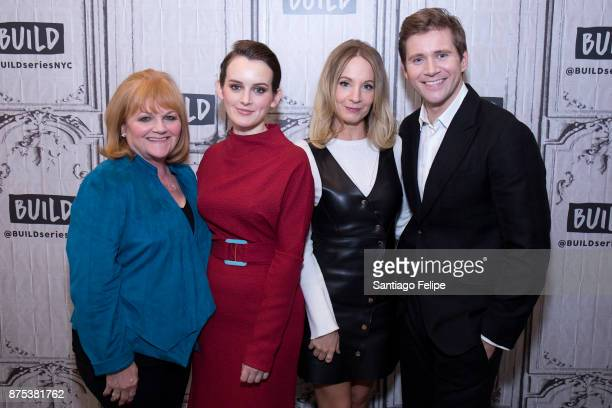 Lesley Nicol Sophie McShera Joanne Froggatt and Allen Leech attend Build Presents to discuss 'Downton Abbey The Exhibition' at Build Studio on...