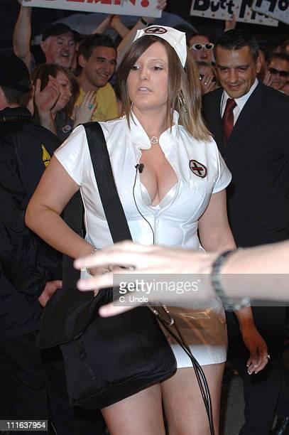 "Lesley Sanderson during ""Big Brother 6"" UK - Night 1 - Arrivals at Elstree Studios in London, Great Britain."