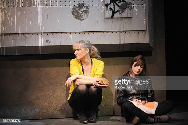 """Lesley Sharp and Jessica Raine in Simon Stephens' """"Harper Regan"""" at the National Theatre in London."""