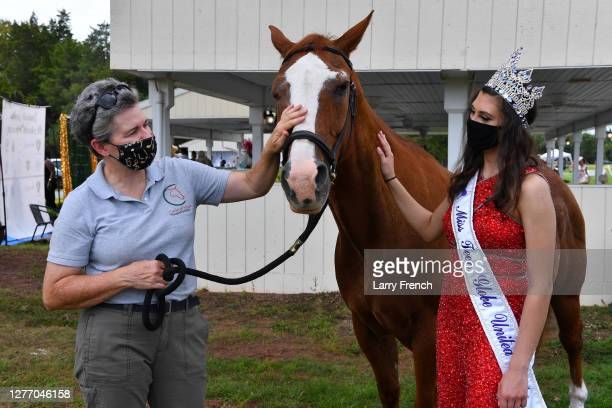 Lesley Shear of Circle of Hope Therapeutic Riding and Miss Teen Globe Martina Myers appear at Grandiosity Events 4th annual Polo & Jazz celebrity...