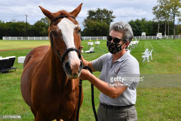 Lesley Shear of Circle of Hope Therapeutic Riding appear at Grandiosity Events 4th annual Polo & Jazz celebrity charity benefit hosted by Real...