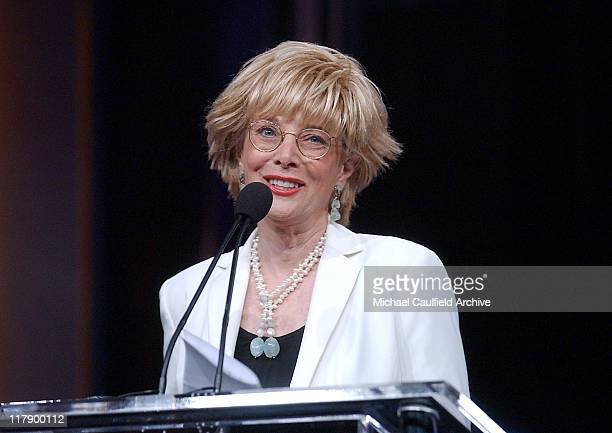 Lesley Stahl accepts the Career Achievement award on behalf of Don Hewitt of 60 Minutes