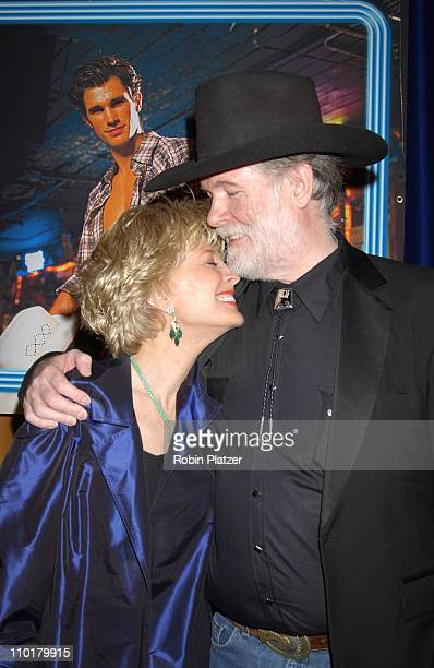 Lesley Stahl and husband Aaron Latham during Urban Cowboy the Musical opening night crowd and after party at Marriot Marquis Westside Ballroom in New...