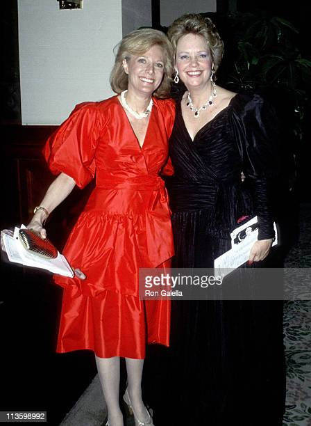 Lesley Stahl and Maureen Reagan during Gridiron Club Hosts Annual Dinner Dance in Washington DC United States