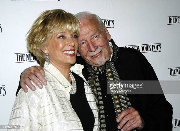 Lesley Stahl and Skitch Henderson New York Pops founder and music director