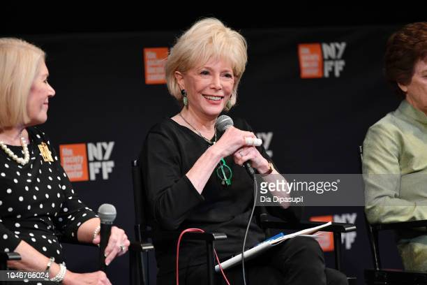 Lesley Stahl attends the Watergate screening QA during the 56th New York Film Festival at The Film Society of Lincoln Center Walter Reade Theatre on...