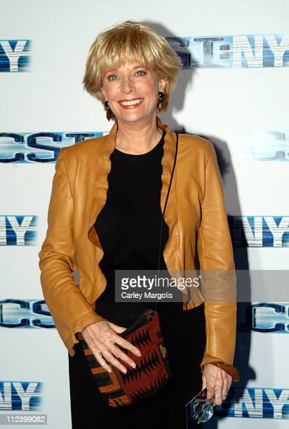 Lesley Stahl during CSI NY New York Premiere at Ed Sullivan Theater in New York City New York United States