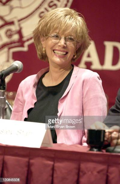 Lesley Stahl during News Emmys Symposium to Honor 60 Minutes 35th Anniversary at Fordham University in New York City New York United States