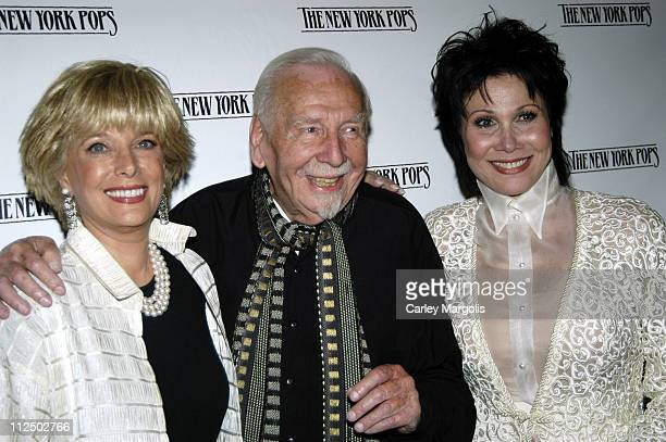 Lesley Stahl Skitch Henderson New York Pops founder and music director and Michelle Lee