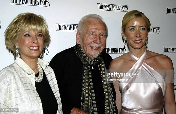 Lesley Stahl Skitch Henderson New York Pops founder and music director and Suzanne Murphy