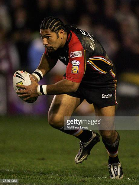 Lesley Vainikolo of Bradford Bulls in action during the engage Super League match between StHelens v Bradford Bulls at Knowsley Road on March 2 2007...