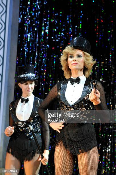 Lesley Vicarage as Andy and Amanda Holden as Vera in Richard Harris's Stepping Out directed by Maria Friedman at the Vaudville Theatre on March 9...