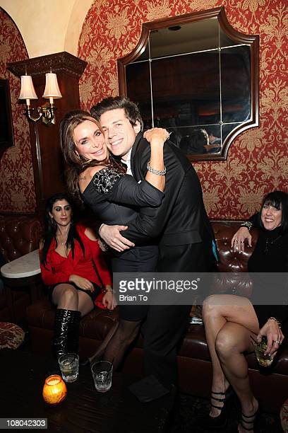 Lesley Vogel Panettiere and producer Adam Havener attend Havener's 30th birthday celebration at Crown Bar on January 13 2011 in Los Angeles California