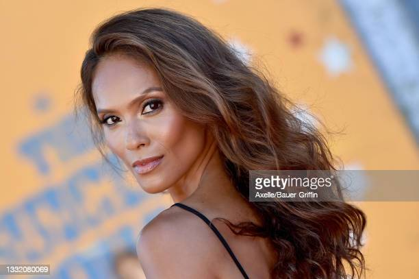 """Lesley-Ann Brandt attends Warner Bros. Premiere of """"The Suicide Squad"""" at The Landmark Westwood on August 02, 2021 in Los Angeles, California."""