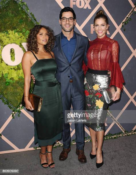 LesleyAnn Brandt Tom Ellis and Tricia Helfer attend the FOX Fall Party at Catch LA on September 25 2017 in West Hollywood California