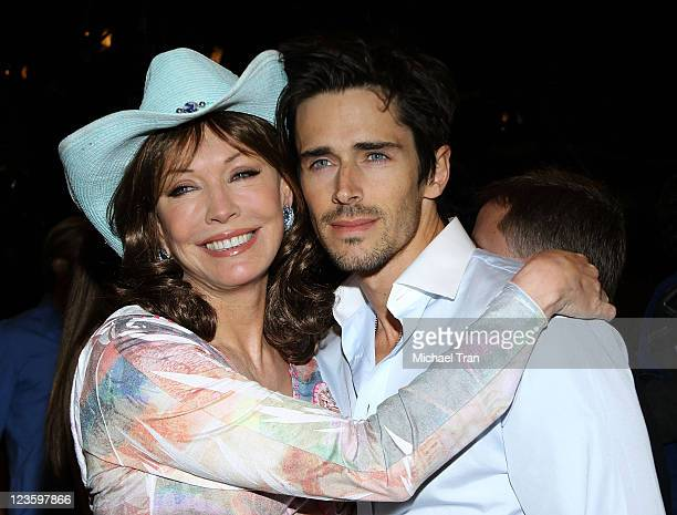 LesleyAnne Down and Brandon Beemer attend The Bold And The Beautiful 6000th episode celebration held at CBS Studios on February 7 2011 in Los Angeles...