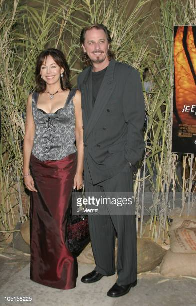 LesleyAnne Down and husband Don FauntLeRoy during Jeepers Creepers 2 Hollywood Premiere at The Egyptian Theatre in Hollywood California United States