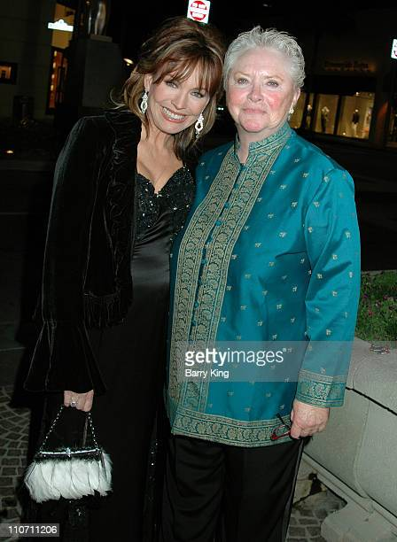 LesleyAnne Down and Susan Flannery during The Bold and the Beautiful 20th Anniversary Gala Arrivals at Two Rodeo in Beverly Hills California United...